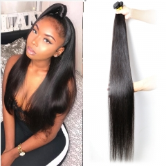 Brazilian Long Straight Human Hair Bundles 30 Inch 32 Inch 34 Inch 36 Inch 38 Inch 40 Inch Virgin Straight Human Hair 3 Bundle Sale