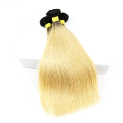 Cheap Straight Hair 3 Bundles Extensions 1b 613 Blonde Hair Weave Bundles 100% Virgin Human Hair
