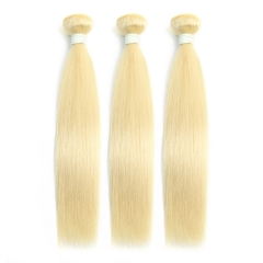 Cheap Straight Hair 613 Blonde Hair Weave 3 Bundles 100% Virgin Human Hair Brazilian Straight Hair Bundles