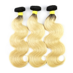 Virgin Brazilian Body Wave Hair Extensions 1b 613 Blonde Hair Weave 3 Bundles 100% Virgin Human Hair