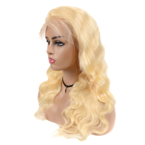 Virgin Raw Blonde 613 Color Lace Front Wig 180% Density Hand Made Blonde 13x6 Lace Frontal Wig