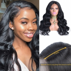 13X6 Lace Frontal Wig Pre Plucked With Baby Hair Body Wave  Human Hair Wigs 180% Density