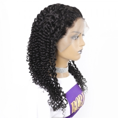 Malaysian Full Lace Wig180% Density Kinky curly Natrural Headline with Baby hair FOR LADIES