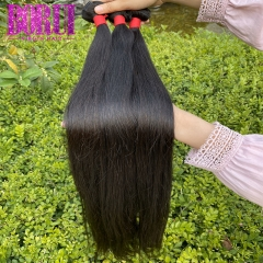 BoRui Hair Brazilian Straight Hair Bundles Long Human Hair 3 Bundles Brazilian Hair Weave Bundles Natural Color