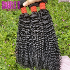 BoRui Hair Kinky Curly Wave 3 Bundles Brazilian Hair Weave Remy Human Hair Extensions Bundles