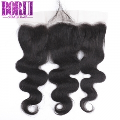 Borui Body Wave Brazilian Virgin Human Hair 13X4 Lace Frontal Ear To Ear 8-22 Inch