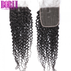 Kinky Curly Closure Swiss Lace Closure Human Hair Closure Malaysian Closure Remy Closures 4x4 Closure Curly Closure Borui