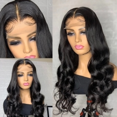 BORUI Hair 13x4 Swiss HD Frontal Lace Wigs Body Wave 250% Density Thin Invisable HD Wigs