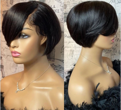 Pixie Cut Wig Lace Front Human Hair Wig Brazilian Wig Straight Lace Front Wigs